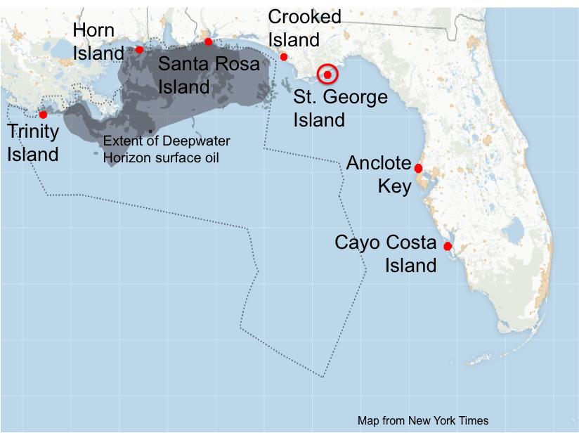 Florida Panhandle Map St George Island